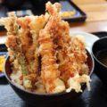 浦添市【海鮮食堂 太陽】像山一樣雄偉的天丼/海鮮丼/蝦丼
